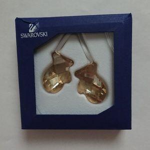 New in box - Swarovski twinkling mittens ornament